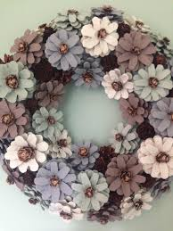 pinecone wreath pinecone wreath wreath door wreath wall decoration