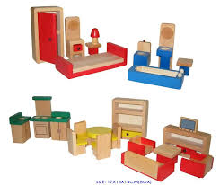 factory wooden doll house furniture 24pc baby vegas