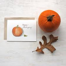 happy thanksgiving note cards trowel and paintbrush