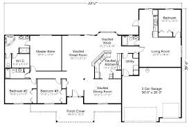 House Plans For Two Families Single Story Multi Generational House Plans