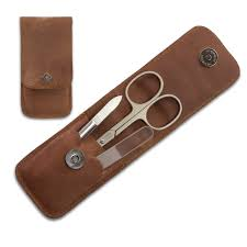 timor solingen 3 piece vintage look manicure set with glass nail
