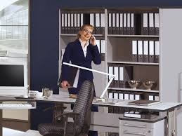 pro büroprogramm büromöbel set komplett 11 tlg in grau