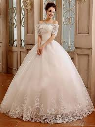 Wedding Dress Ivory Ball Gown Wedding Dress With Sleeves Naf Dresses