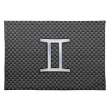 zodiac placemat carbon fiber placemats zazzle
