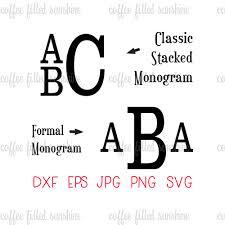 stacked monogram boys stacked font stacked monogram svg font digital cut file