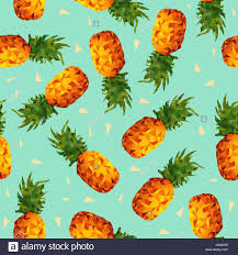 modern summer seamless pattern colorful pineapple fruit