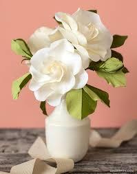 gardenia flower craft a handmade crepe paper gardenia tutorial