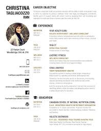 Nutritionist Resume Sample by Health And Wellness Resume Work Better Pinterest