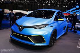 renault concept renault makes electric power exciting in geneva with zoe e sport