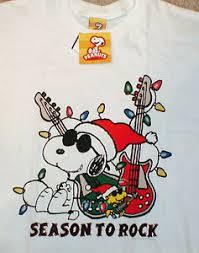 snoopy christmas shirts snoopy christmas t shirt peanuts white large joe cool guitar
