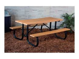 Galvanized Outdoor Chairs 6 Ft Heavy Duty Recycled Plastic Picnic Table With Welded