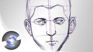 sketching a face basic proportions youtube