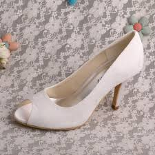 white lace wedding shoes china global selling white lace peep toe wedding bridal shoes high