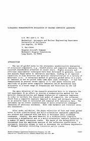 Chemist Resume Ultrasonic Nondestructive Evaluation Of Cracked Composite