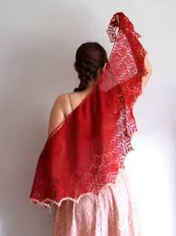 Gift For Wife Red Shawl Lace Knit Shawl Valentine U0027s Day Gift Gift For