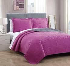 Bedspreads Quilts And Coverlets Dexter Black Dusty Plum Reversible Bedspread Quilt Set