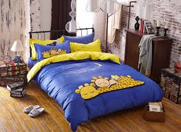Blue Yellow Comforter Navy Blue And Yellow 100 Cotton Bedding Sets Be006420 Blue And