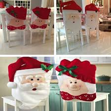 christmas chair back covers 1pcs christmas mr mrs santa claus hat chair back cover table room