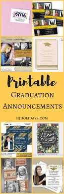 graduation packages printable graduation announcements and cards