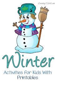 winter activities for kids with printables winter activities