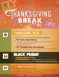 thanksgiving specials loveland laser tag center