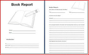 story report template book report forms 6th grade