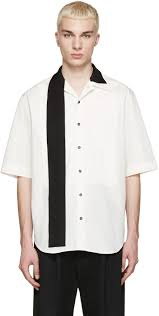ribbon shirt lyst yang li white ribbon shirt in white for men