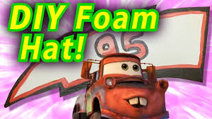 how to make a lightning mcqueen foam hat from disney u0027s cars 3 diy