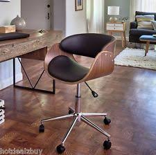 Mid Century Modern Office Desk Retro Office Desk Chair Adjustable Seat Vintage Guest Swivel Mid