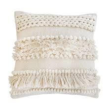 Iman Home Decor Iman Woven Pillow In Ivory Design By Pom Pom At Home Burke