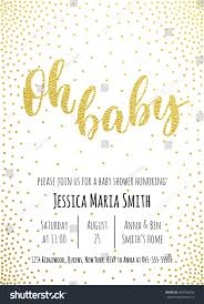 Invitation Card Baby Shower Oh Baby Baby Shower Invitation Card Stock Vector 450150256