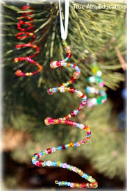 vibrant beaded tree ornaments made for keeps