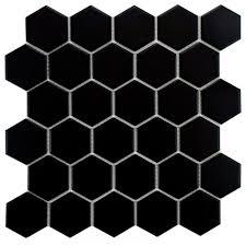 merola tile metro hex 2 in matte black 10 1 2 in x 11 in x 5 mm