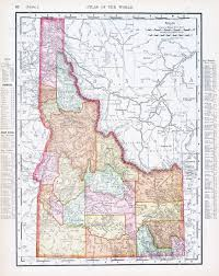 map of idaho vintage map of the state of idaho united states id copyright