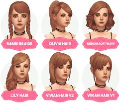 sims 4 hair cc aveira s sims 4 clay hair recolors updated new haircolor palette