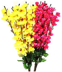 artificial flowers kaykon orchids multicolour artificial flowers bunch pack of 2
