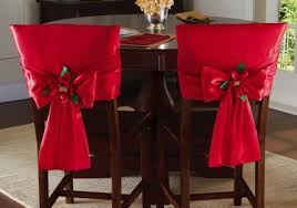 christmas chair back covers bow dining chair back covers set of 2 dining