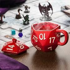 Dragon Coffee Cup Critical Hit D20 Mug Thinkgeek