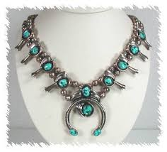 silver turquoise necklace images Native american pawn navajo sterling silver and turquoise squash jpg