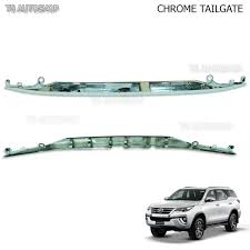 toyota product line chrome line strip tailgate trim for new toyota fortuner 2016 2017