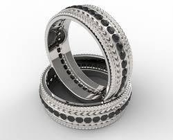 matching rings black diamonds matching rings vidar jewelry unique custom