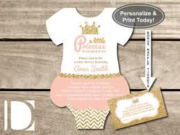 little princess baby shower invitation onesie invitation tutu