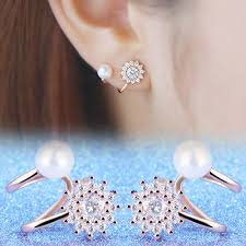 left side earring earring post new arrival left and right side rhinestones