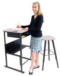 Picture Of Student Sitting At Desk by New U0027 U0027standing U0027 U0027 Desk Created To Improve Students U0027 Academic