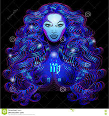 Colors Of The Zodiac by Neon Signs Of The Zodiac Virgo Stock Illustration Image 78604925