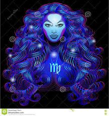 neon signs of the zodiac virgo stock illustration image 78604925