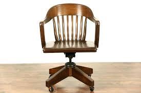 Office Desk Parts Oak Bankers Desk Chair Bankers Desk Chair Desk Oak Swivel Bankers