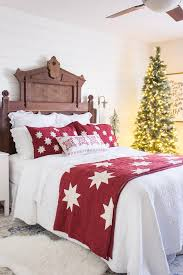 What Is A Sham For A Bed My Traditional Christmas Bedroom Shades Of Blue Interiors