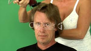 haircut loosing full hair royalty free video and stock footage
