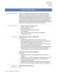 Resume Summary No Experience Cover Letter Front Desk Resume Examples Front Desk Manager Resume